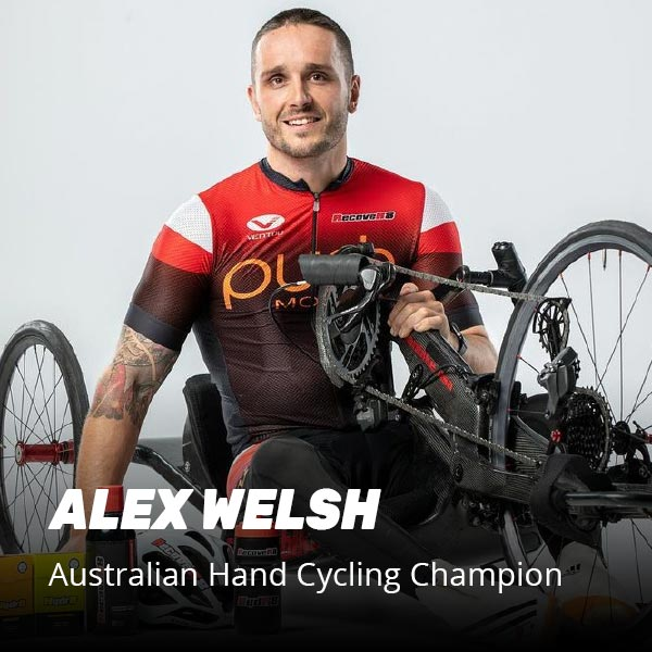 Alex Welsh Australian Hand Cycling champion recommends R8 Supplements