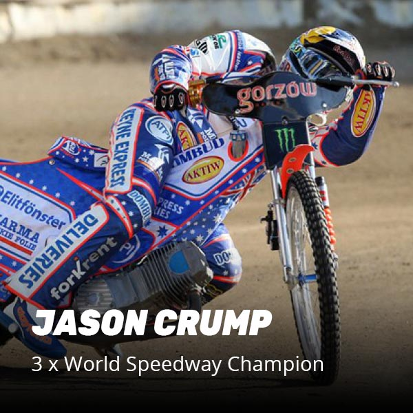 Jason Crump 3 times world speedway champion recommends Recover8 recovery drink